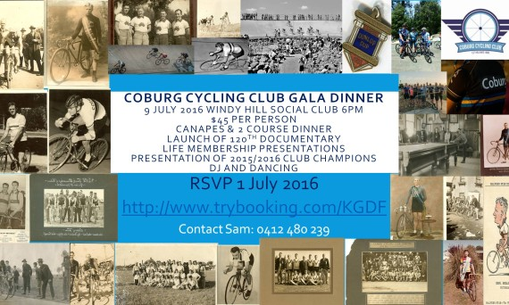 120 th Dinner Coburg Cycling Club